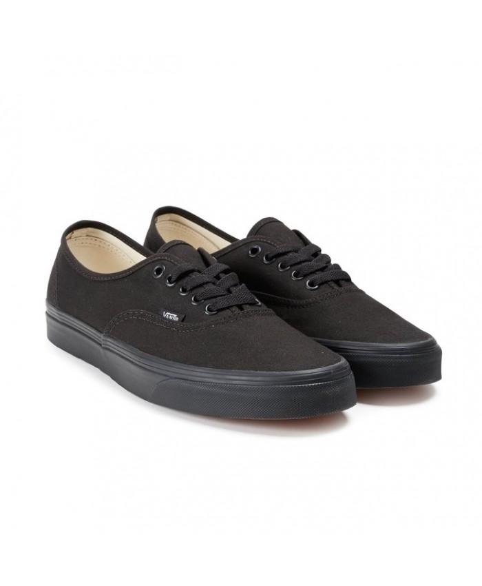 vans authentic total black