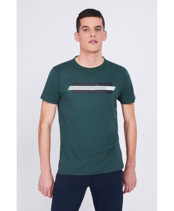 T-SHIRT COTONE LOGO CON STAMPA DATCH verde